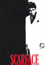 Licensed Scarface Tony Montana Silhouette Raschel Plush Blanket Queen Size