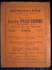 Catalogue 1930 Quincaillerie industrielle agricole charrue outillage