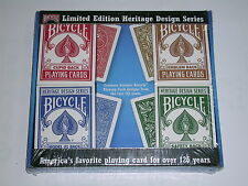 4 DECKS ( 1 set)  Bicycle Heritage Design Series Playing cards - S1034492803