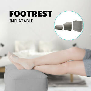 Relax Inflatable Foot Rest Travel Air Pillow Cushion Office Leg Up Footrest