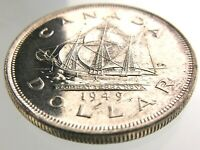 1949 Canada One 1 Dollar Uncirculated Silver Canadian George VI Coin R636