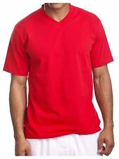 Men's HEAVY WEIGHT V-Neck T-Shirt Lot Blank Plain Tee BIG & Comfy Camo S-5X
