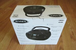 New Jensen CD Player Boombox AM/FM Radio Cassette Player/Recorder AUX-IN