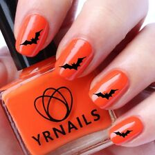 Nail WRAPS Nail Art Water Transfers Decals - Halloween Big Bat - H036