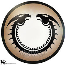 Round VIKING DRAGON SHIELD -- sca/larp/celtic/norse/wooden/armor/art/painting
