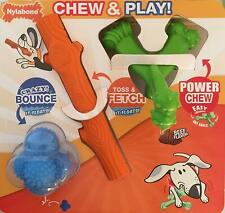 Nylabone Chew and Play 3 Toys Triple Interactive Value Pack