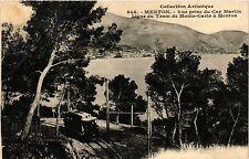 CPA   Menton - Vue prise du Cap Martin -Ligne du Tram de Monte-Carlo   (351125)