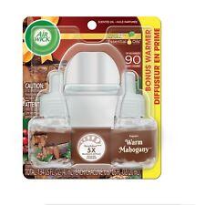 Air Wick Warm Mahogany 2 Oil Refills + 1 Warmer Starter Kit