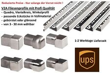 10x L-Profil Edelstahlschiene Fliesenprofil Fliesenschiene Edelstahl V2A L250cm 10mm gl/änzend