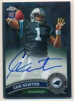 CAM NEWTON 2011 TOPPS CHROME RC ROOKIE ON CARD AUTOGRAPH PANTHERS AUTO SP