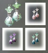 Leverback Glass Handcrafted Earrings