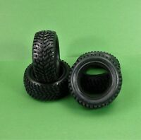 Set of 4 sand runner tyres for 1:10 RC rally & touring cars suit Tamiya Traxxas