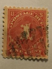 1894 One Cent Postage Due Stamp, Used - Scott's J29, Rare