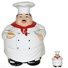 Tuscany Fat Chef Cookie Jar ACK Ceramic Storage Decorative Collectibles 88976