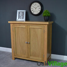 Oak Linen Cupboard Small / Storage Cabinet / Sideboard / Solid Wood Oakley