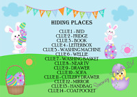 Easter Egg Hunt Indoor 14 Clues Party Games Ideas Basket Lockdown Kit