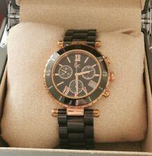 Ladies Black Rose Gold Ceramic Gc Diver Chic Chronograph Watch GC47504M