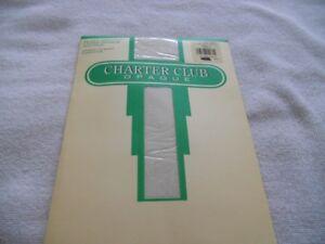 Charter Club silken smooth lycra opaque vanilla size A sandal toe vintage