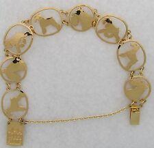 Miniature Schnauzer Jewelry Gold Bracelet by Touchstone