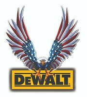 DEWALT TOOLS STICKER DECAL FLYING EAGLE GLOSSY TOOL BOX CHEST GARAGE MADE IN USA