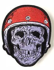a23ffec74f25 ECUSSON PATCH BRODE THERMOCOLLANT TETE DE MORT CASQUE MOTO BIKER SKULL !