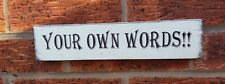 Rustic Design your own Personalised Shabby Chic Wooden Sign Plaque free standing