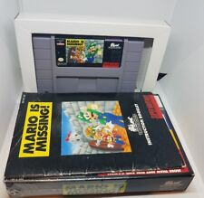 MARIO IS MISSING SNES SUPER NINTENDO GAME NICE CONDITION NEAR MINT COMPLETE