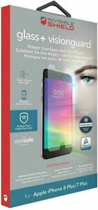 Zagg InvisibleShield Glass+ Visionguard Screen Protector for iPhone 8Plus/7Plus