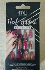 Ardell Nail Addict Premium Artificial Nail Set Chrome Pink Foil 24 Nails