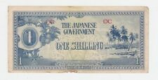 THE JAPANESE GOVERNMENT One Shilling WWII BANKNOTE War Invasion Money E-432