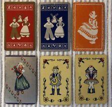 6 Vintage Playing Cards ~ Scandinavian Children ~ Hearts/Flowers ~Extra Joker