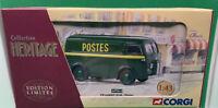 Corgi Heritage 1:43 EX70610; 1950 Peugeot D3A Van; Postes, Mail Van; France BNIB