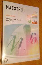 MAESTRO COLOR Pastell 5x50 Blatt, creme - gelb - rosa - mittelgrün - mittelblau