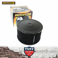 """Aeroflow Black Air Cleaner Assembly 9"""" x 5"""" with Washable Filter Element New"""