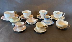 Antique/Vintage Mismatched Tea Cups & Saucers Lot of 17
