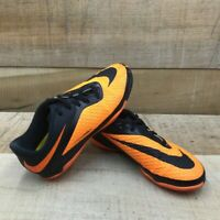 Nike Boys Hypervenom Phelon IC Soccer Shoes Orange 599811-008 Lace Up 2.5Y