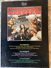 The Scorpions World Wide Live Songbook German Import Guitar Tab Tablature 1985