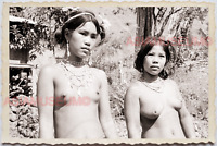 50s PHILIPPINES MOUNTAIN TRIBE WOMEN TATTOO TOPLESS WOMEN  Vintage Photo 24291
