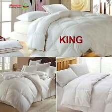 KING SIZE ROYAL COMFORT GOOSE FEATHER & DOWN QUILT/DUVET/DOONA - 500GSM, -