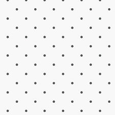 KE29926 Black and White Polka Dot Wallpaper DOUBLE roll FREE shipping