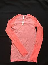 Lululemon Women's Size 4 Run Swiftly Tech Long Sleeve Shirt Pink Lemonade