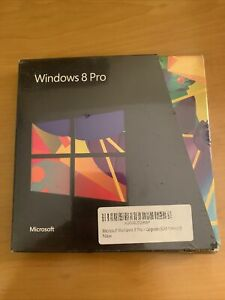 Microsoft Windows 8 Pro New In Box Factory Sealed 32 Bit/64 Bit ENGLISH