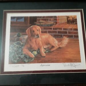 Randy Mcgovern Limited Print Signed Numbered APPRECIATION Labrador Lab YELLOW