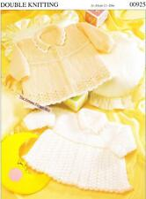 2 MATINEE COATS / birth to 9 months - 8ply or D.K.- COPY baby knitting pattern