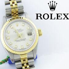NYJEWEL Rolex 18k Oyster Perpetual Datejust Superlative Chronomete Diamond Watch
