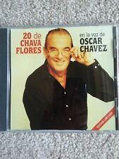"""OSCAR CHAVEZ """"20 DE CHAVA FLORES """"CON EL TRIO LOS MORALES MEXICAN AUDIO CD"""