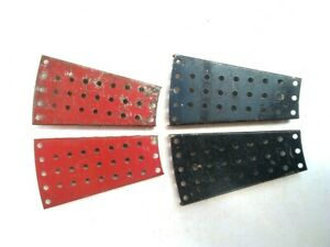 Vintage Meccano 4 x Flanged Sector Plates 4 1/2 in. (54)