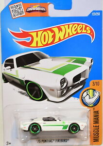HOT WHEELS 2016 MUSCLE MANIA '73 PONTIAC FIREBIRD #3/10 WHITE