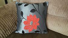 6 18 pulgadas De Moda Rojo, Negro y Plata Cushion Covers,? por qué comprar ahora?