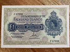 More details for falkland islands, 1982 one pound, £1 banknote near mint 1st jan 1982